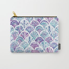 CORAL CAMO Mystical Purple Mermaid Scales Carry-All Pouch