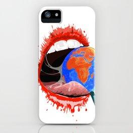 Global consumption iPhone Case