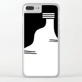 Ribera Navarra. Castildetierra Black & white Clear iPhone Case