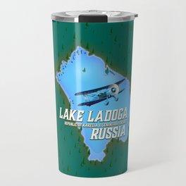 Lake Ladoga Russian map Travel Mug