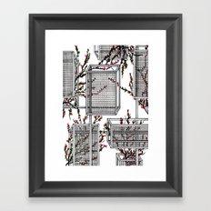 geo spring Framed Art Print