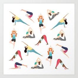 Yoga Pattern Art Print