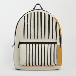 Mid Century Modern Minimalist Rothko Inspired Color Field With Lines Geometric Style Backpack