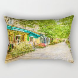 Paris, France in the spring watercolour style oil-paint Rectangular Pillow