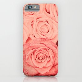 Some People Grumble - Living Coral Roses Garden iPhone Case
