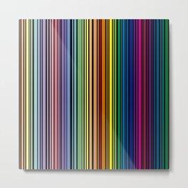 Vertical multicolored lines Metal Print
