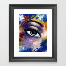 Title: Very Beautiful Eye painting Framed Art Print