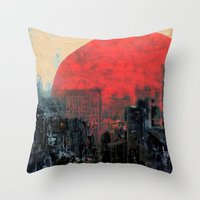 sunshine Throw Pillows featuring Last Sunshine by Fernando Vieira