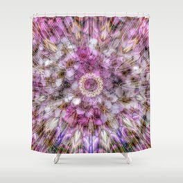 Floral fusion mandala Shower Curtain