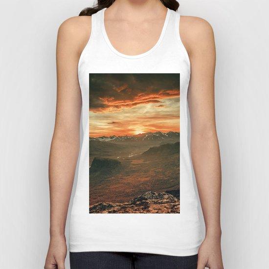Sunset Landscape Unisex Tank Top