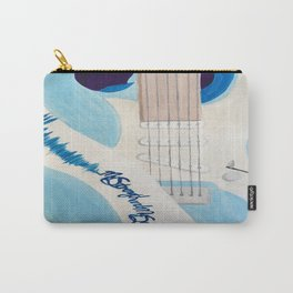 Blue Guitar and Strap Carry-All Pouch