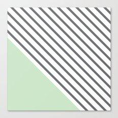 Diagonal Block - Mint Canvas Print