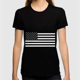 Black And White Stars And Stripes T-shirt