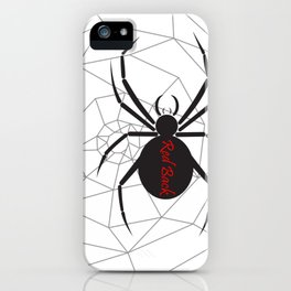 Beware the Red Back Spider from Down Under, not for the faint hearted. iPhone Case