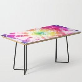 Tie-Dye Sunburst Rainbow Coffee Table
