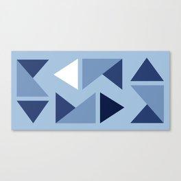 Indigo folding triangles Canvas Print