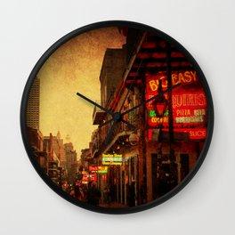 Bourbon Street Grunge Wall Clock