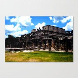 El Templo De Los Guerreros, Chichen Itza Canvas Print
