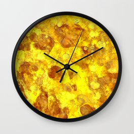 Gold Smudges Wall Clock