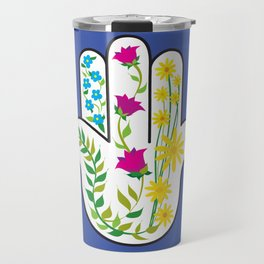 Hamsa Dove Travel Mug