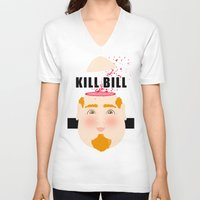 kill bill V-neck T-shirts featuring Kill Bill by Frikaditas T-Shirts