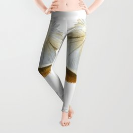 Pretty  Feathers, Seamless Watercolour Pattern Leggings