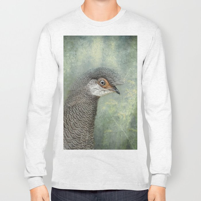 Peacock Pheasant Long Sleeve T-shirt