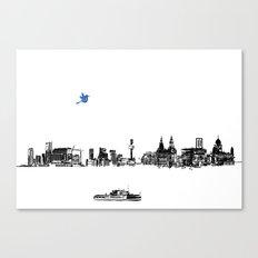 Liverpool city Canvas Print