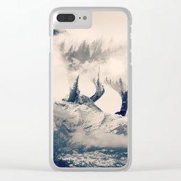 Fox Mountain Walker Clear iPhone Case