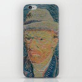 Van Gogh's self portrait - Der Roj study iPhone Skin