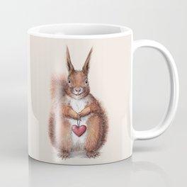 Squirrel heart love Coffee Mug