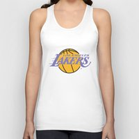 lakers Tank Tops featuring Lakers by Dexter Gornez