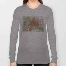 Vintage Map of Berlin Germany (1905) Long Sleeve T-shirt