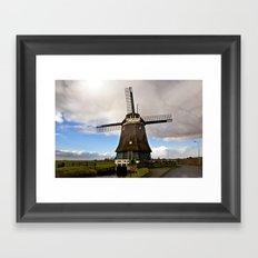 Traditional Dutch Windmill Framed Art Print