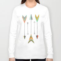 arrows Long Sleeve T-shirts featuring Arrows by Hayley Lang