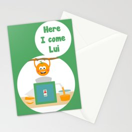 Here I come Lui Stationery Cards