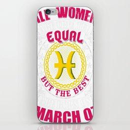 Best-Women-Born-On-March-07-Pisces---Sao-chép iPhone Skin