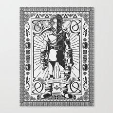 Legend of Zelda - Epic Link Vintage Geek Line Artly Canvas Print