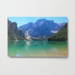 Emerald lake in Tyrol Metal Print
