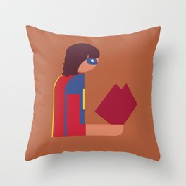 Ms Lady Reads Throw Pillow