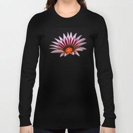 Big Kiss White Flame Flower Long Sleeve T-shirt