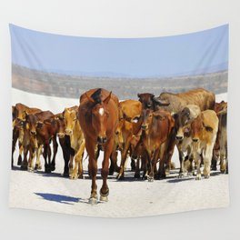 Pony leading the mob home Wall Tapestry