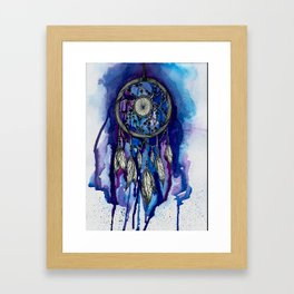 Purple Ink Dreamcatcher Framed Art Print