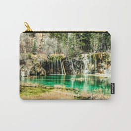 Natures Eternal Beauty // Long Exposure Waterfall and Teal Water Pond in the High Forest Carry-All Pouch