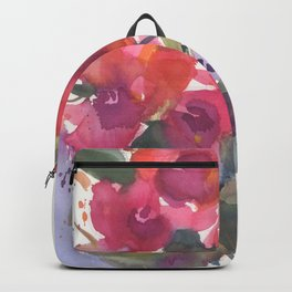 Red Orchid Splash Backpack