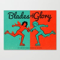 will ferrell Canvas Prints featuring Blades of Glory by Derek Eads