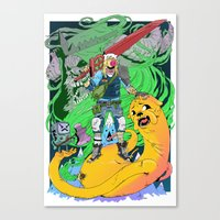 finn and jake Canvas Prints featuring Finn & Jake by Rob S