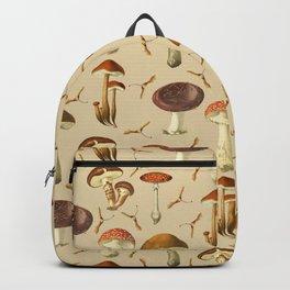 Wild Forest Mushroom Pattern Backpack