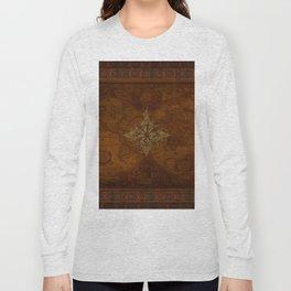 Antique Steampunk Compass Rose & Map Long Sleeve T-shirt