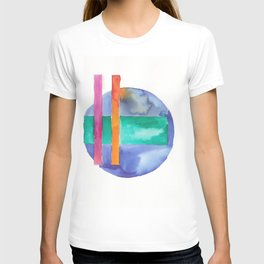 180818 Geometrical Watercolour 7 T-shirt
